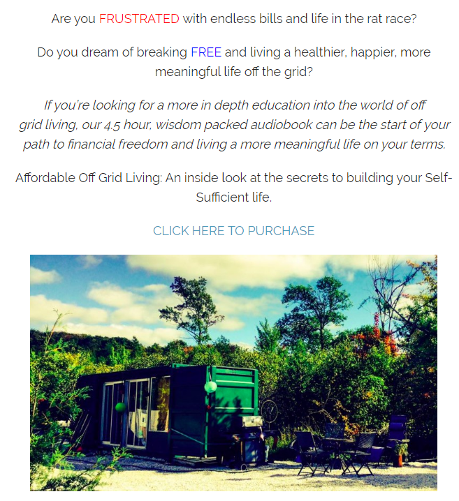 QQ截图20170920120640 - An Inside Look at the Secrets to Building your Self-Sufficient Life.(Affordable Off Grid Living)